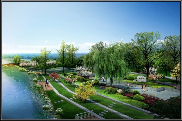 西安黄金水岸园林景观设计图片