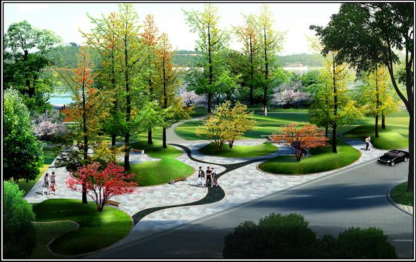 西安黄金水岸园林景观设计