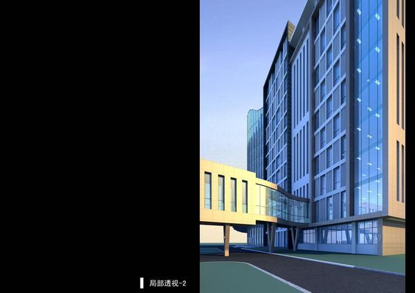 旺苍县人民医院住院楼建筑设计_成都效果图_成都文锦