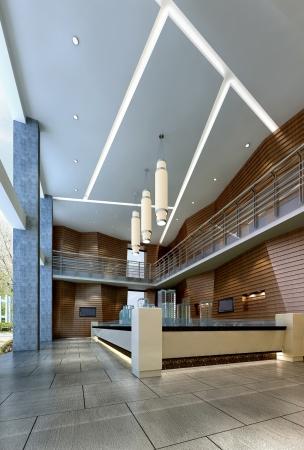 金江工业园办公楼大厅设计方案_成都效果图_成都文锦