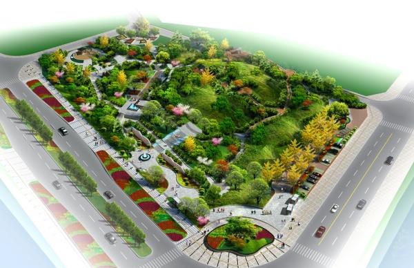 建筑設計圖片 廣場景觀效果圖方案源文件; 文化廣場景觀