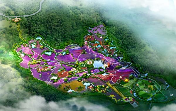 香草天空景观园林效果图
