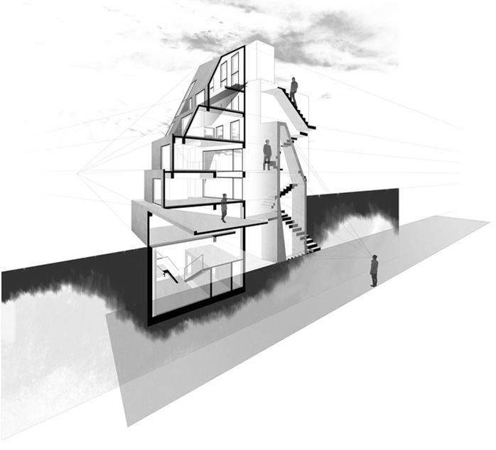 城混合商业建筑效果图 Bikyoshoki