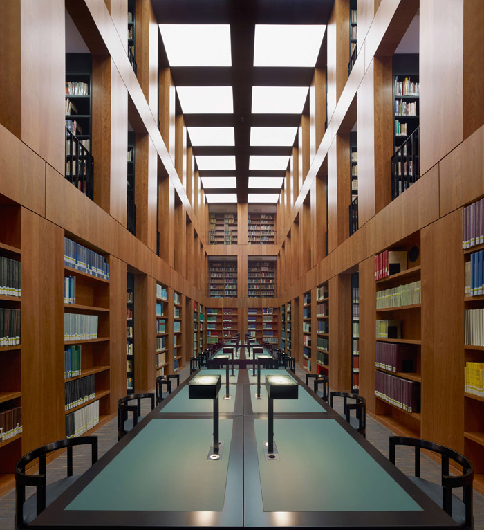 艺术大学图书馆外观夜景透视图